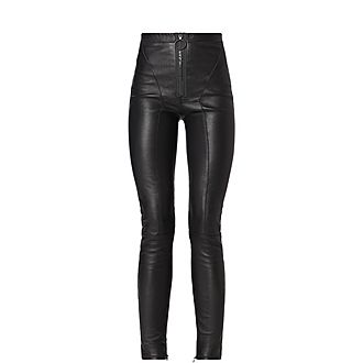 Stretch Leather Trousers