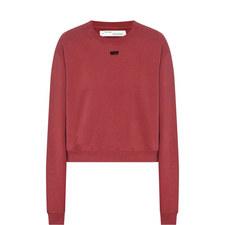 Arrow Cropped Sweatshirt
