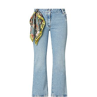 Bleached Crop Jeans