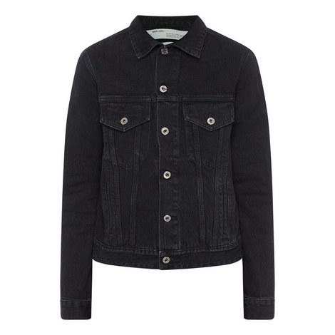 Embroidered Denim Jacket, ${color}