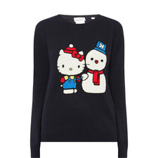 Hello Kitty Snowman Cashmere Sweater