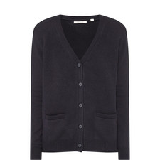 Cashmere Elbow Patch Cardigan