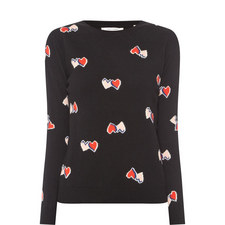 All-Over Heart Sweater