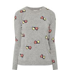 Heart Motif Cashmere Sweater