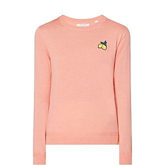 Lemon Badge Cashmere Sweater