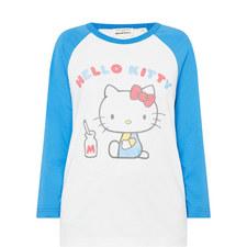 Hello Kitty Cotton Baseball T-Shirt