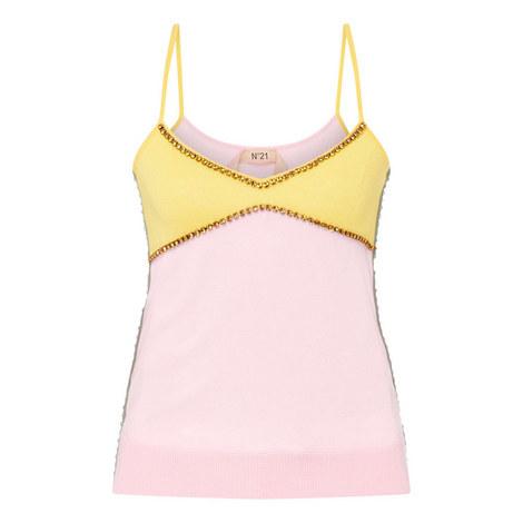 Colour Blocked Knit Top, ${color}