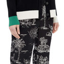 Pyjama-Style Cropped Trousers, ${color}