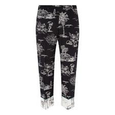 Pyjama-Style Cropped Trousers