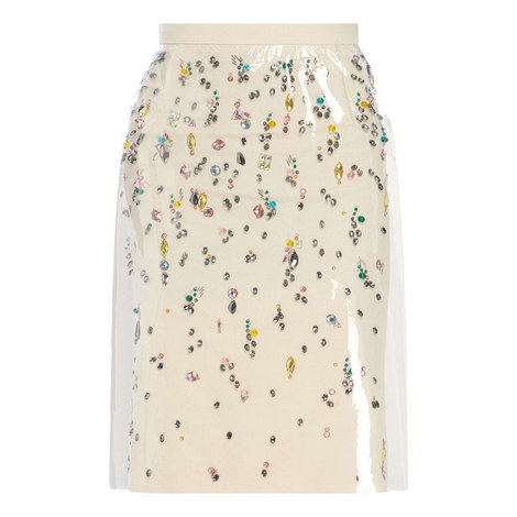 Perspex Jewelled Skirt, ${color}