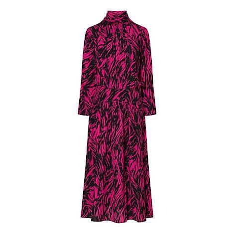 Zebra Print Midi Dress, ${color}