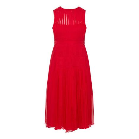 Pleated Silk Dress, ${color}