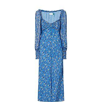 Miriam Eye Wave Print Midi Dress