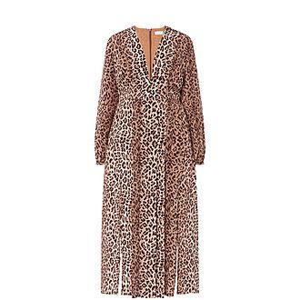 Camellia Leopard Dress