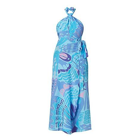 Bluebelle Butterfly Silk Dress, ${color}