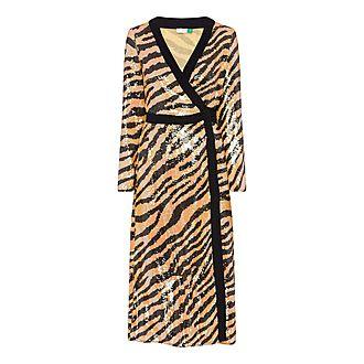 Gigi Sequin Wrap Dress