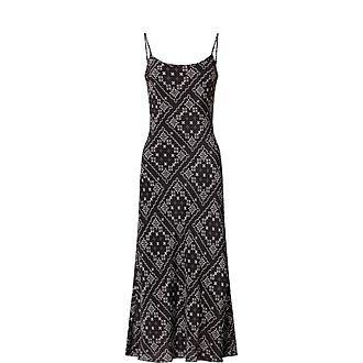 Holly Square Paisley Dress