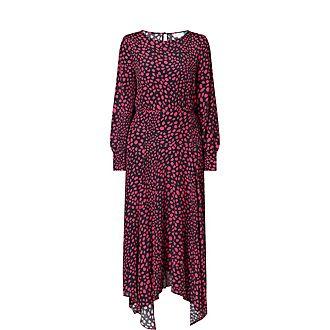 Elsa Leopard Print Midi Dress