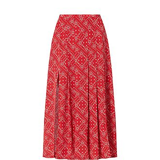 Georgia Square Paisley Skirt