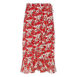 Gracie Floral Wrap Skirt