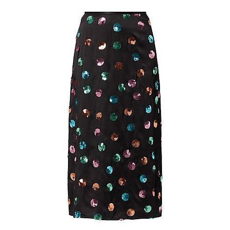 Kelly Sequin Watercolour Skirt, ${color}