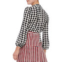 Moss Houndstooth Blouse, ${color}