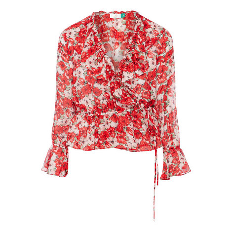 Roisin Floral Ruffle Top , ${color}