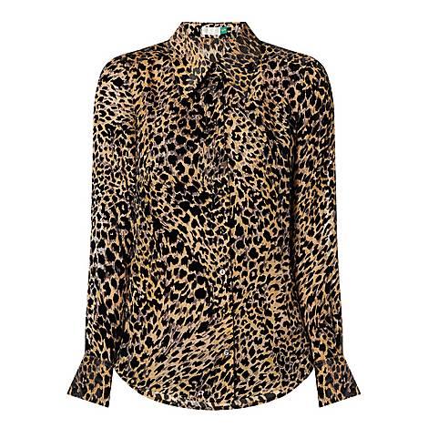 Andrea Leopard Print Top, ${color}