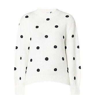 Ariana Polka Dot Sweater