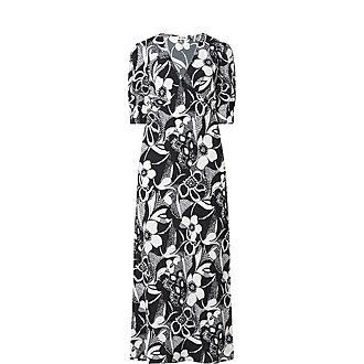 Zadie Floral Swirl Print Maxi Dress