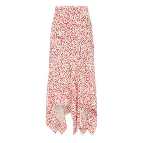 Floral Print Crepe Skirt, ${color}