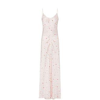 Floral Print Silk Slip Dress