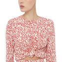 Floral Print Crepe Blouse, ${color}