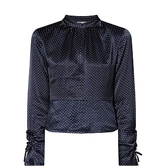 Satin Dotted Blouse