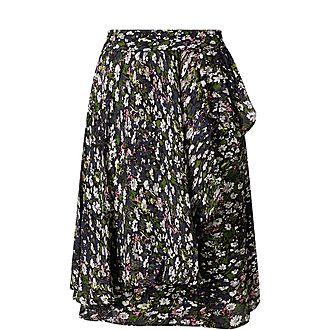 Georgette Floral Wrap Skirt