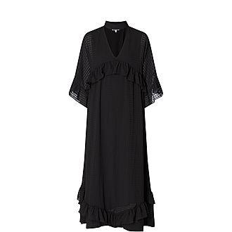 Seersucker Midi Dress