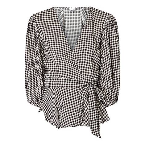Gingham Wrap Top, ${color}