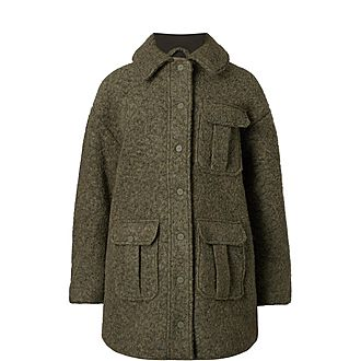 Oversized Boucle Coat
