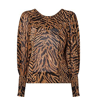 Georgette Tiger Print Blouse