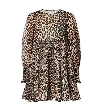 Leopard Print Georgette Dress