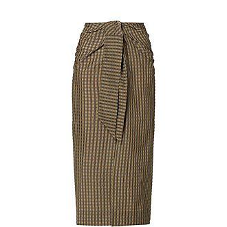 Seersucker Check Skirt