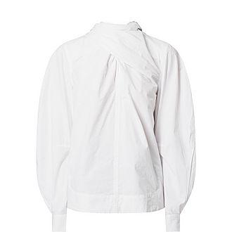 Twist Front Cotton Blouse