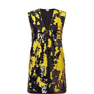 Lemon Sequin Dress
