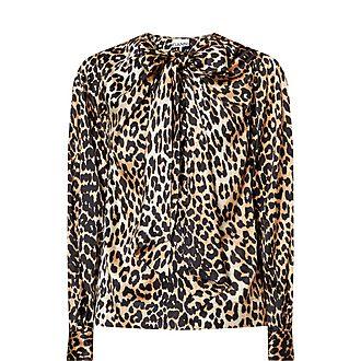 Leopard Print Silk Shirt