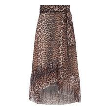 Tilden Leopard Print Skirt
