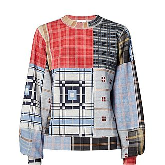 Patchwork Print Sweater