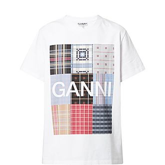 Patchwork Print Cotton T-Shirt