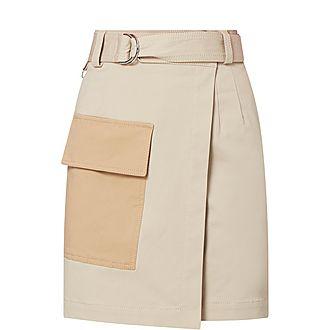 Utility Mini Wrap Skirt