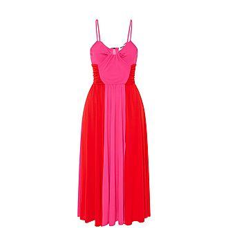 Two-Tone Sleeveless Dress