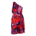 One Shoulder Print Dress, ${color}